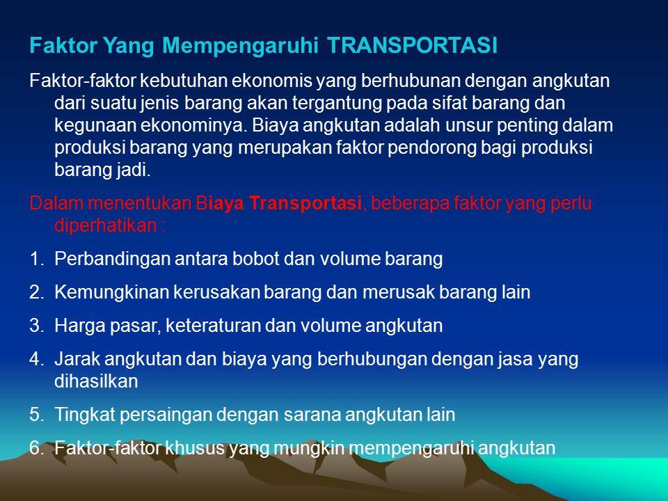 Faktor Yang Mempengaruhi TRANSPORTASI
