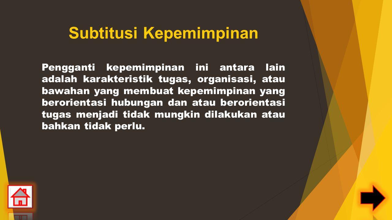 Subtitusi Kepemimpinan
