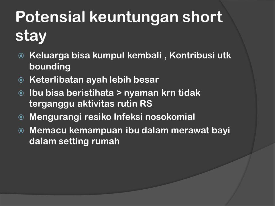 Potensial keuntungan short stay