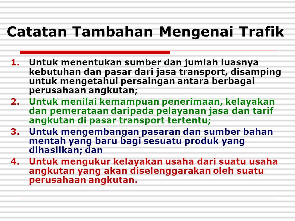 Catatan Tambahan Mengenai Trafik