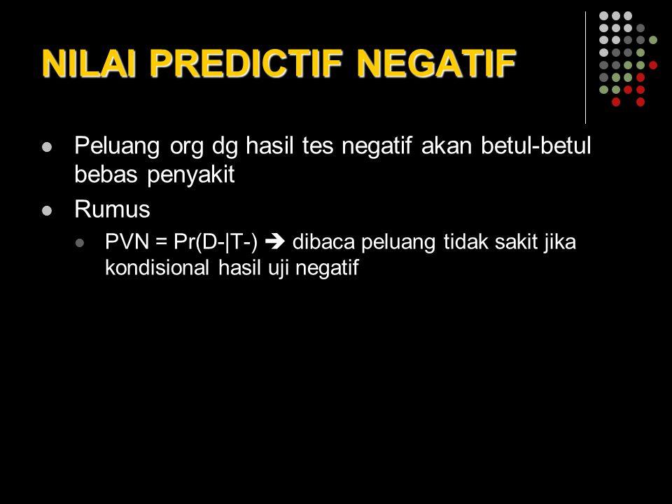 NILAI PREDICTIF NEGATIF
