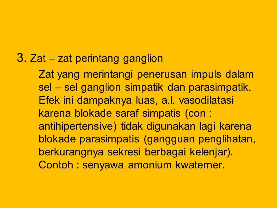3. Zat – zat perintang ganglion