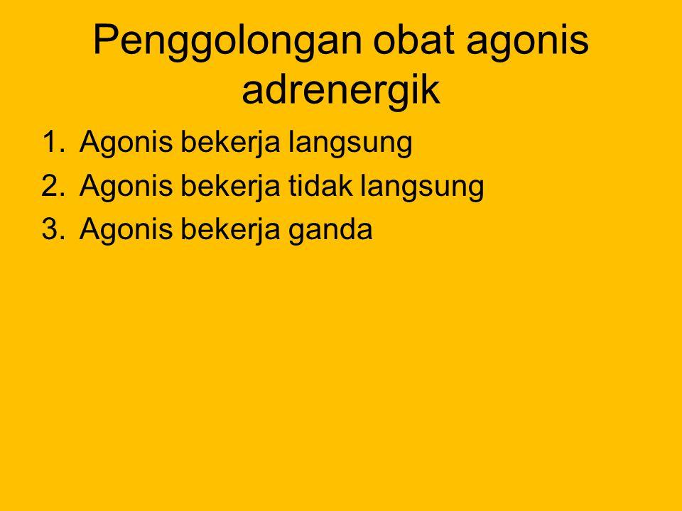 Penggolongan obat agonis adrenergik