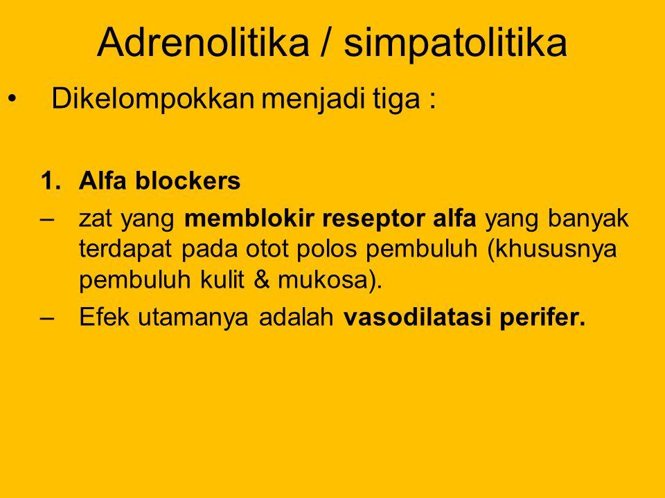 Adrenolitika / simpatolitika
