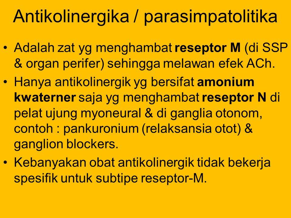Antikolinergika / parasimpatolitika