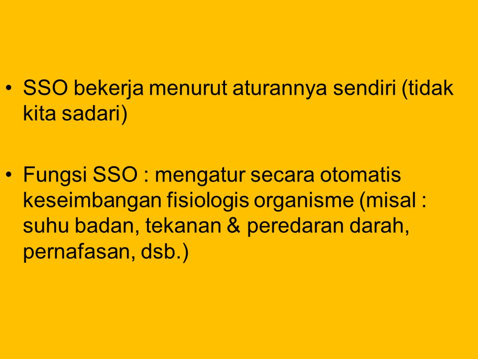 SSO bekerja menurut aturannya sendiri (tidak kita sadari)