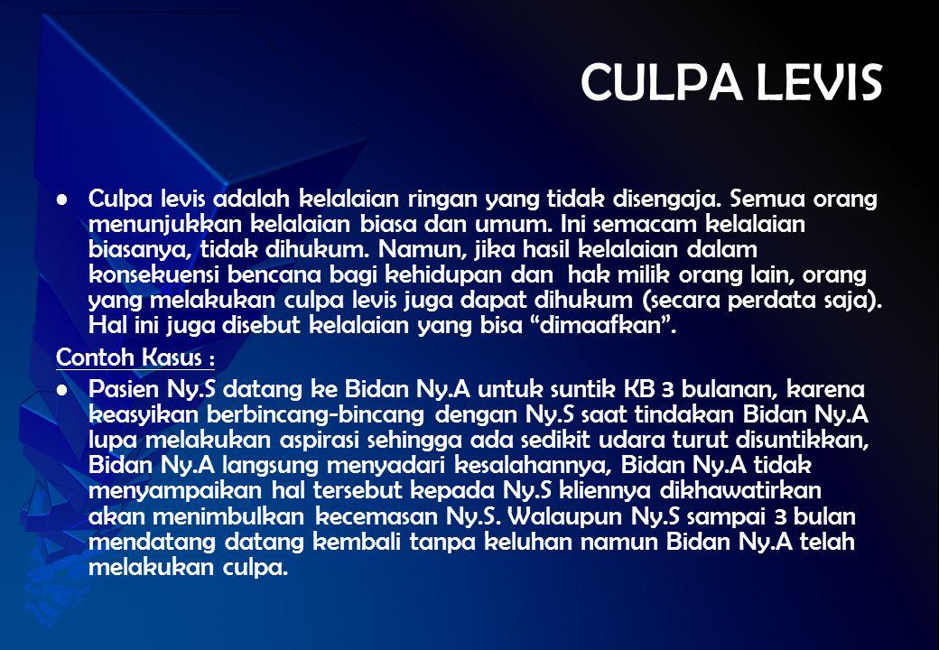 CULPA LEVIS