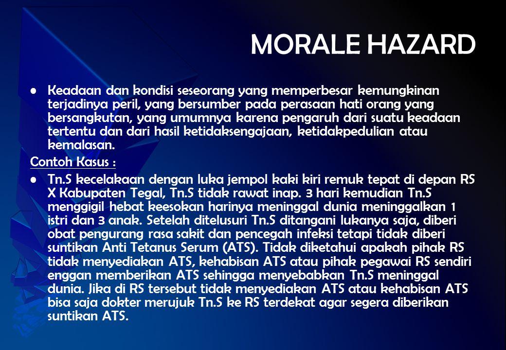 MORALE HAZARD