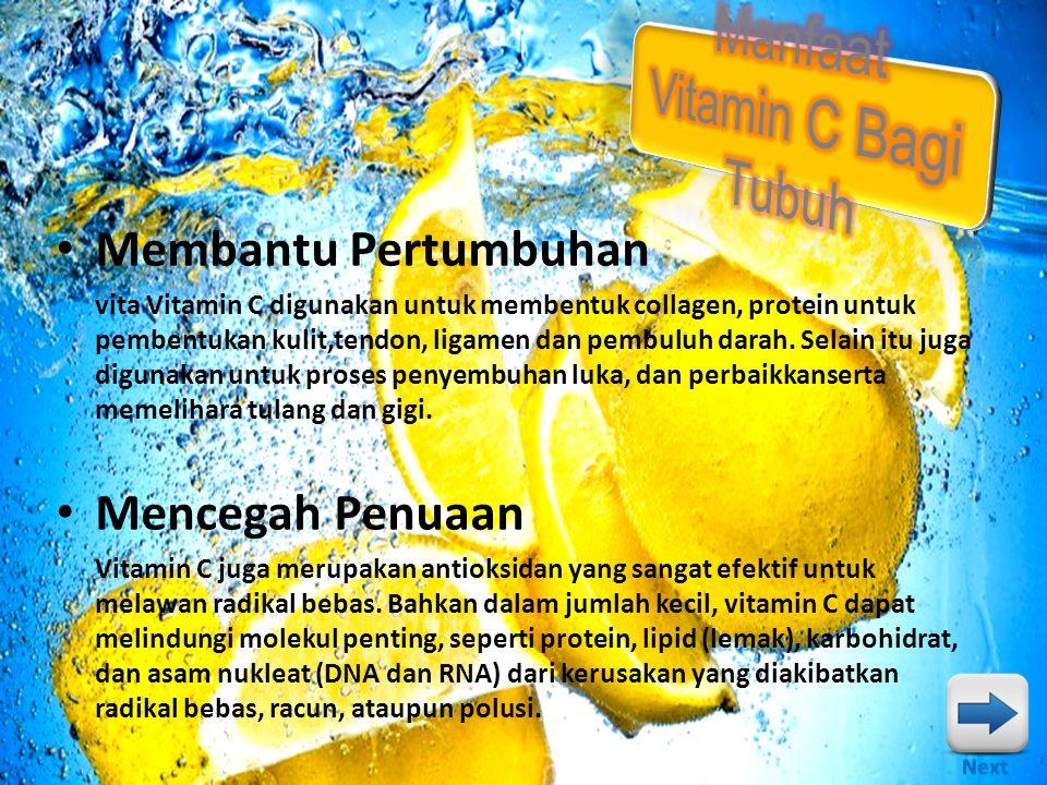 Manfaat Vitamin C Bagi Tubuh