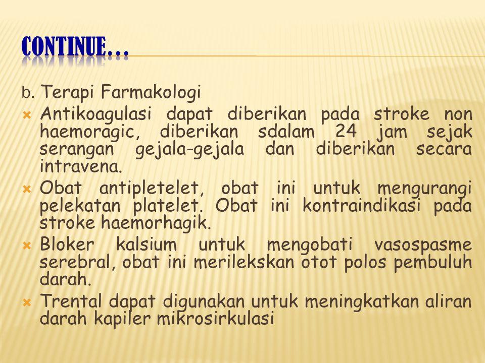 Continue… b. Terapi Farmakologi