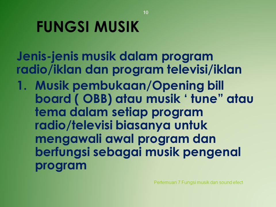 FUNGSI MUSIK