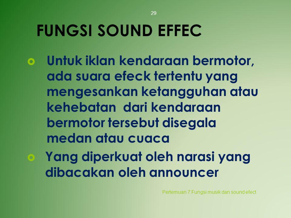 FUNGSI SOUND EFFEC