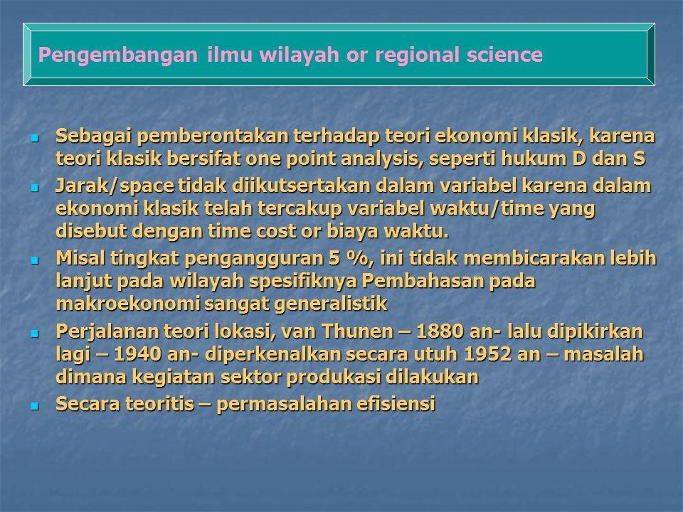 Pengembangan ilmu wilayah or regional science