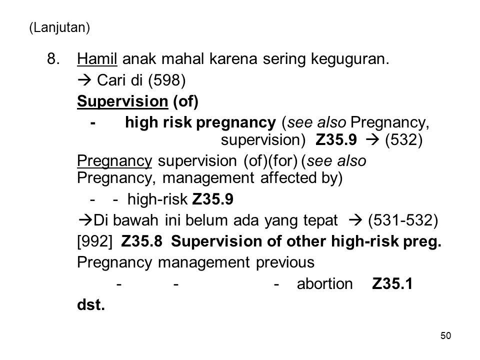 8. Hamil anak mahal karena sering keguguran.  Cari di (598)