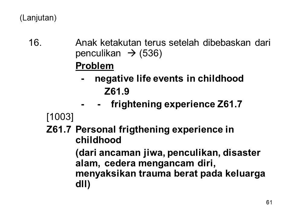 16. Anak ketakutan terus setelah dibebaskan dari penculikan  (536)