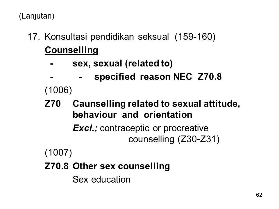 17. Konsultasi pendidikan seksual (159-160) Counselling
