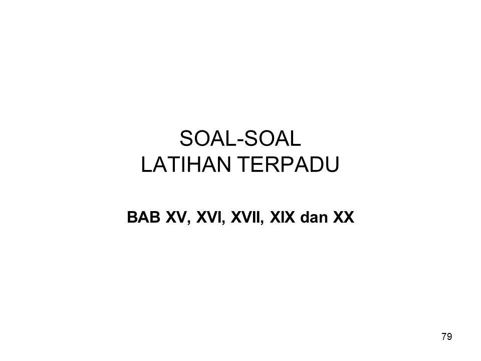 SOAL-SOAL LATIHAN TERPADU