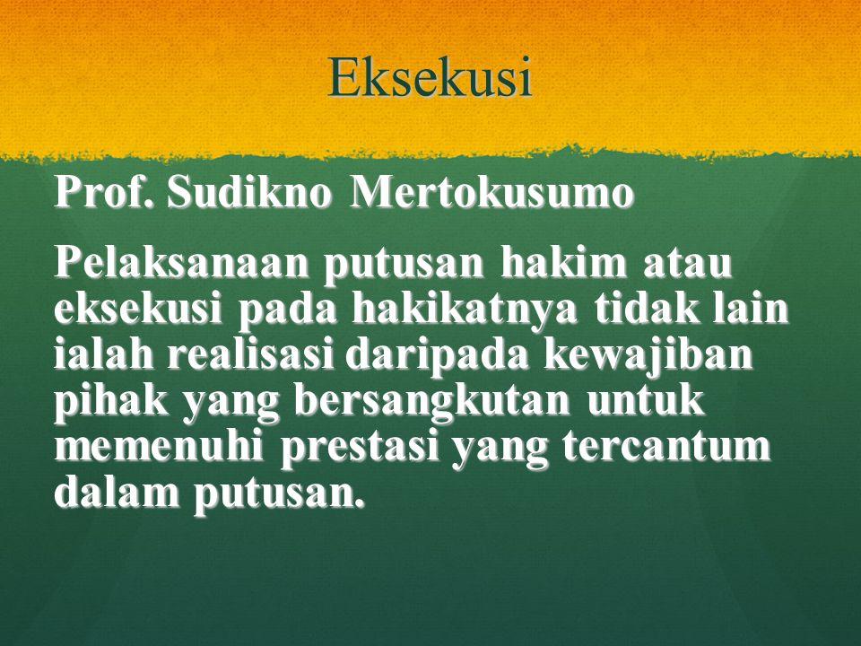 Eksekusi Prof. Sudikno Mertokusumo
