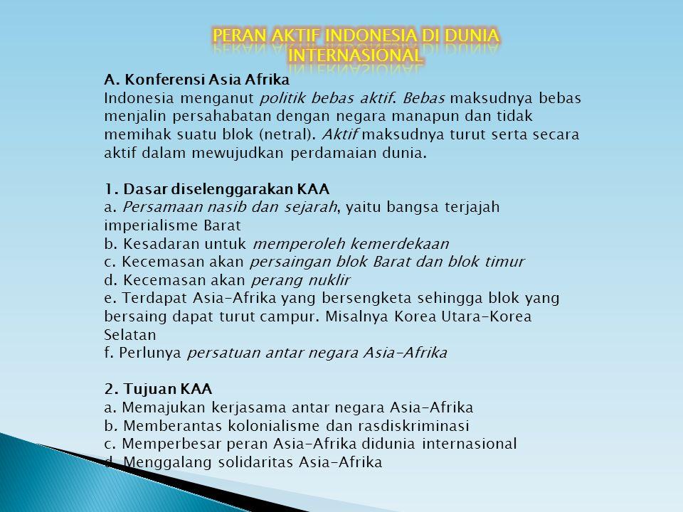 PERAN AKTIF INDONESIA DI DUNIA INTERNASIONAL
