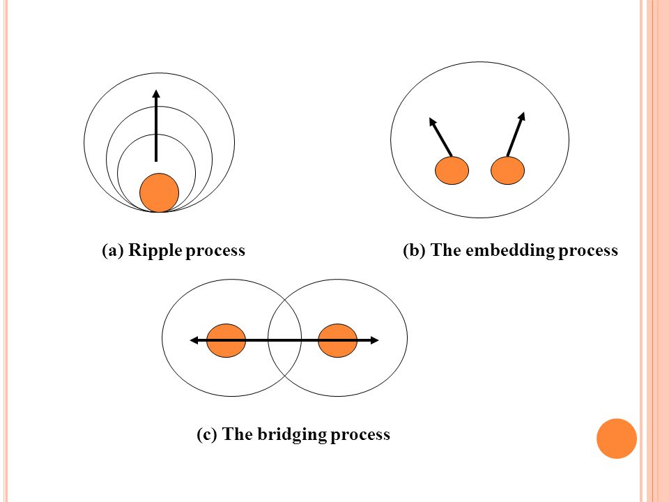 (a) Ripple process (b) The embedding process (c) The bridging process