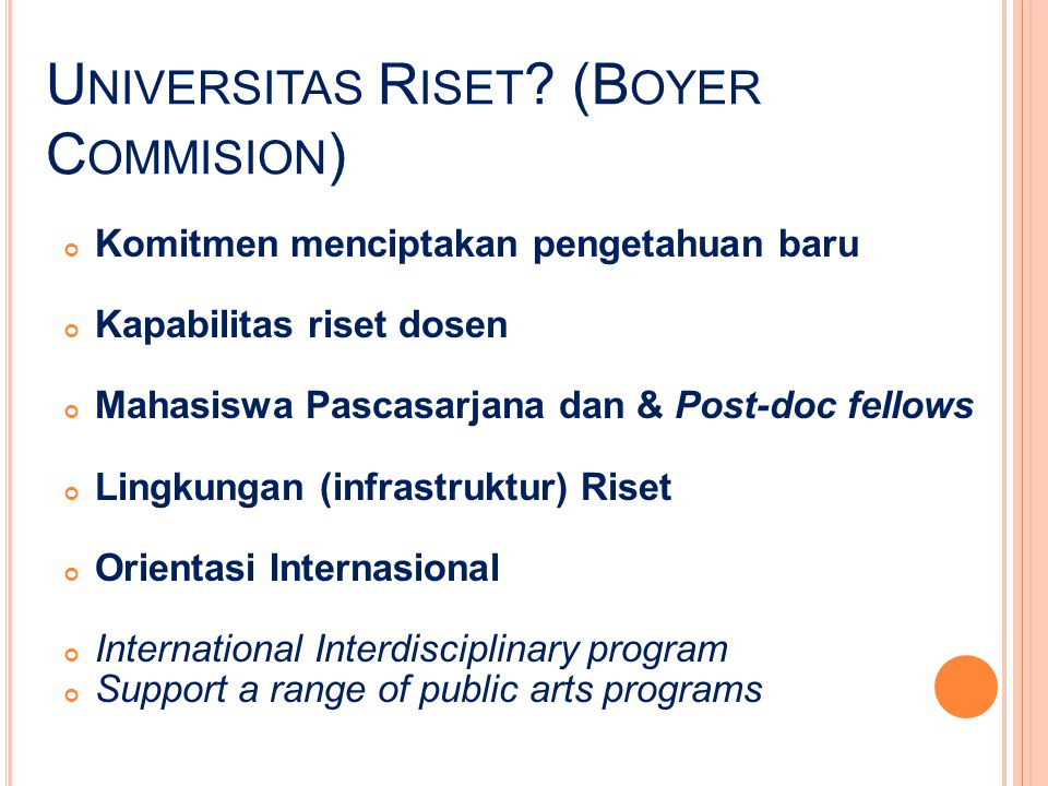 Universitas Riset (Boyer Commision)
