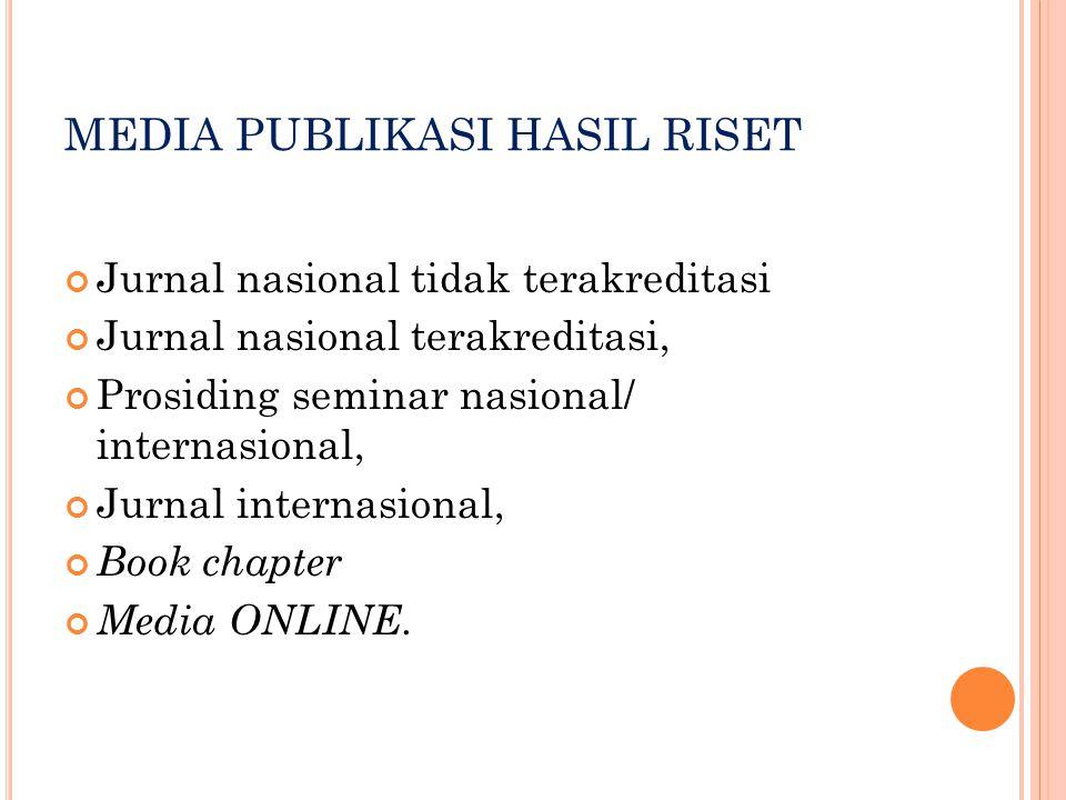 MEDIA PUBLIKASI HASIL RISET