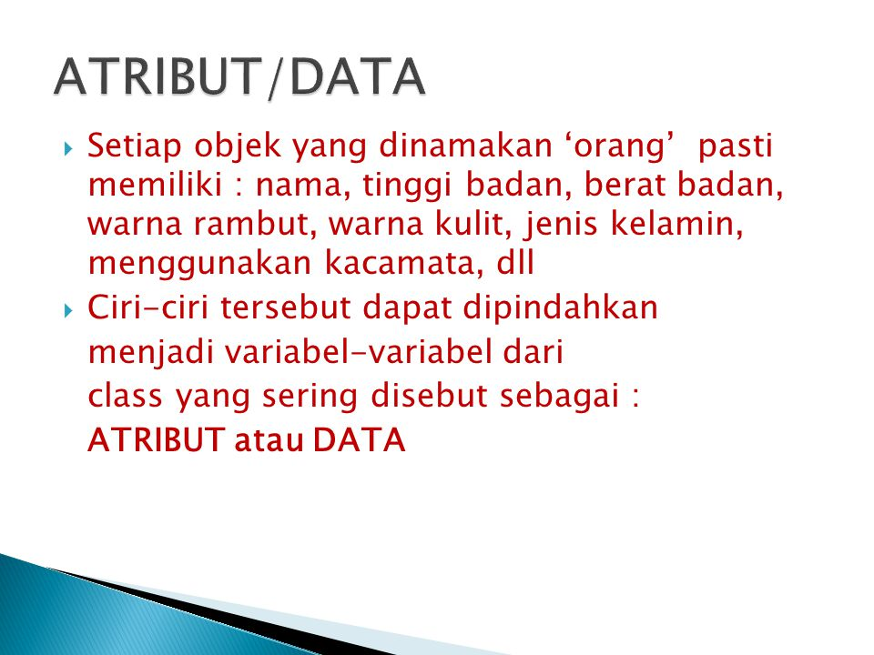 ATRIBUT/DATA