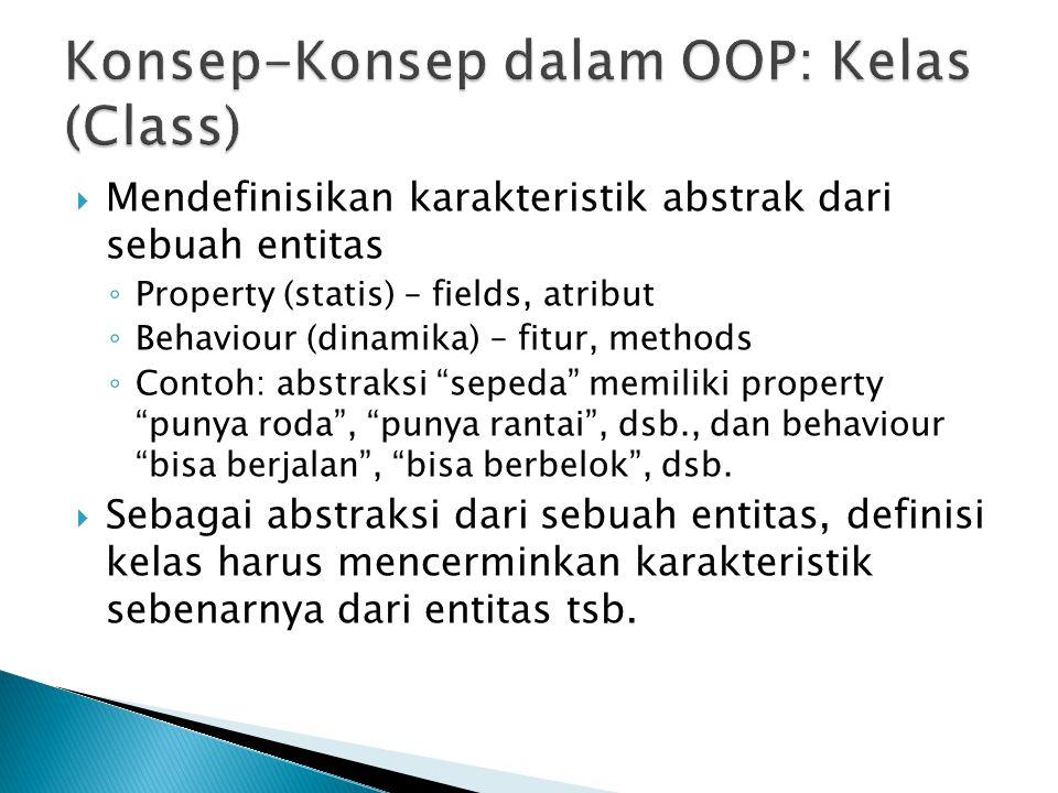 Konsep-Konsep dalam OOP: Kelas (Class)
