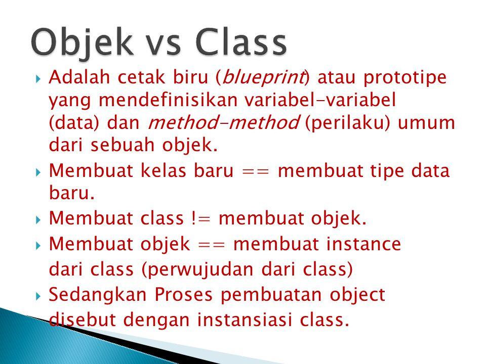 Objek vs Class