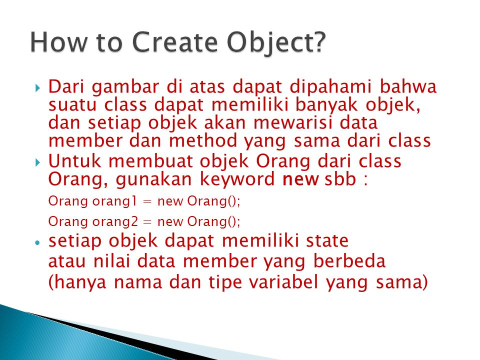 How to Create Object