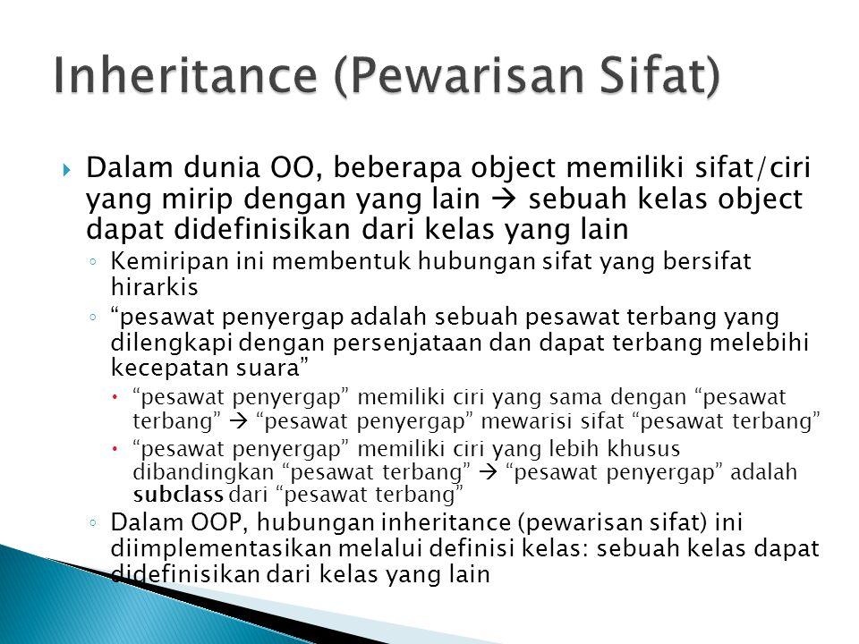 Inheritance (Pewarisan Sifat)