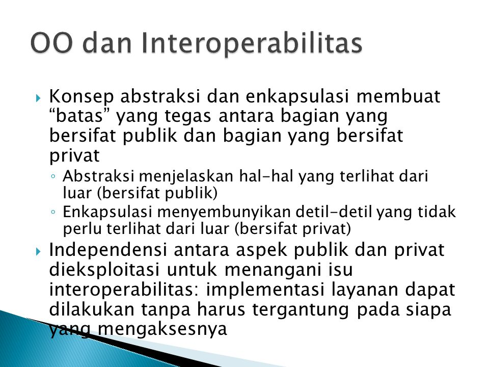 OO dan Interoperabilitas