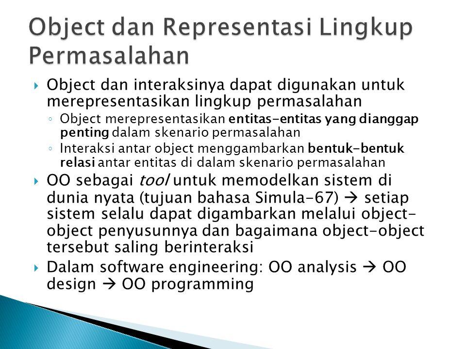 Object dan Representasi Lingkup Permasalahan