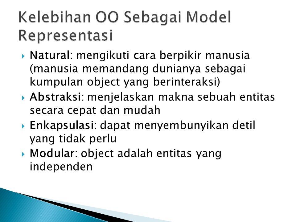 Kelebihan OO Sebagai Model Representasi