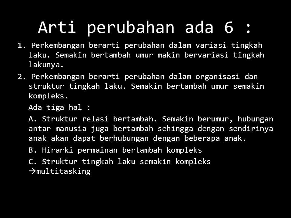 Arti perubahan ada 6 :