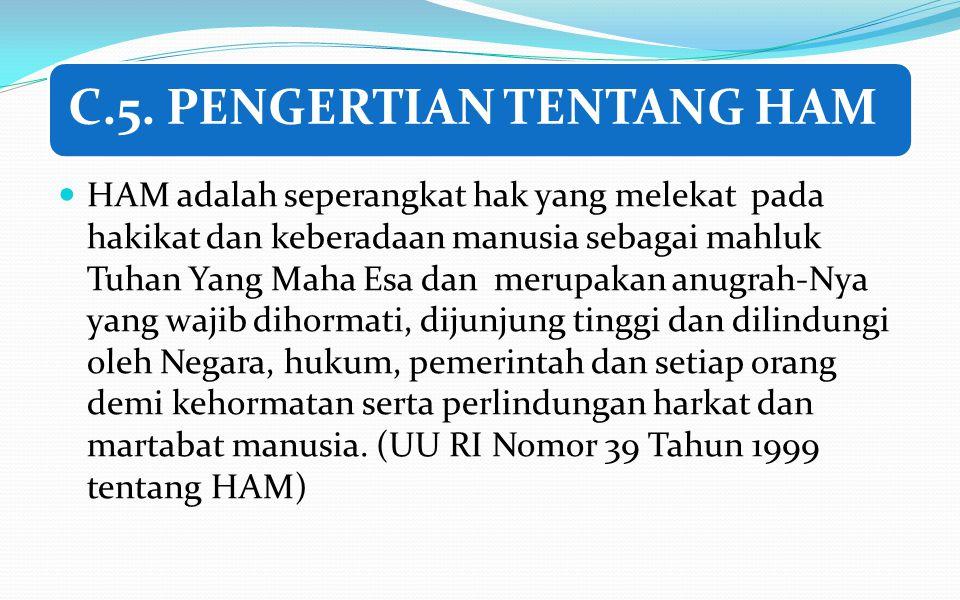 C.5. PENGERTIAN TENTANG HAM