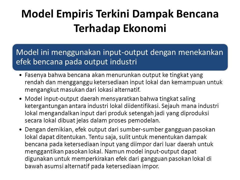 Model Empiris Terkini Dampak Bencana Terhadap Ekonomi