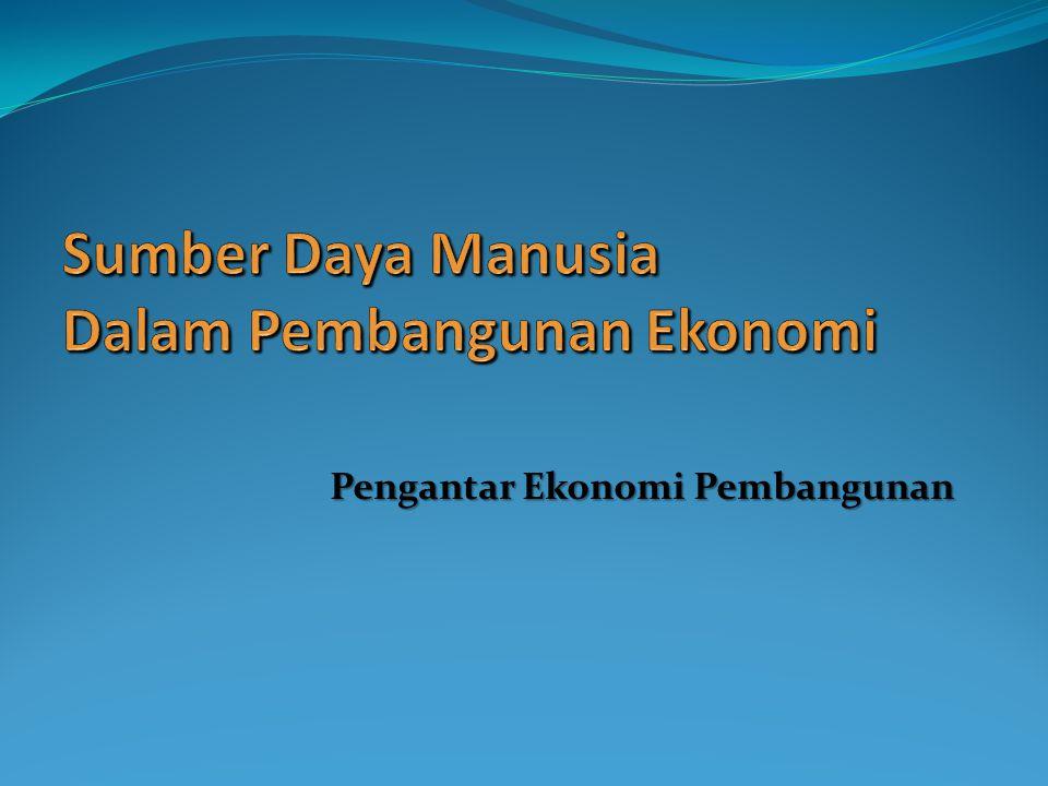 Sumber Daya Manusia Dalam Pembangunan Ekonomi