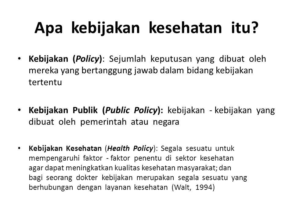 Apa kebijakan kesehatan itu