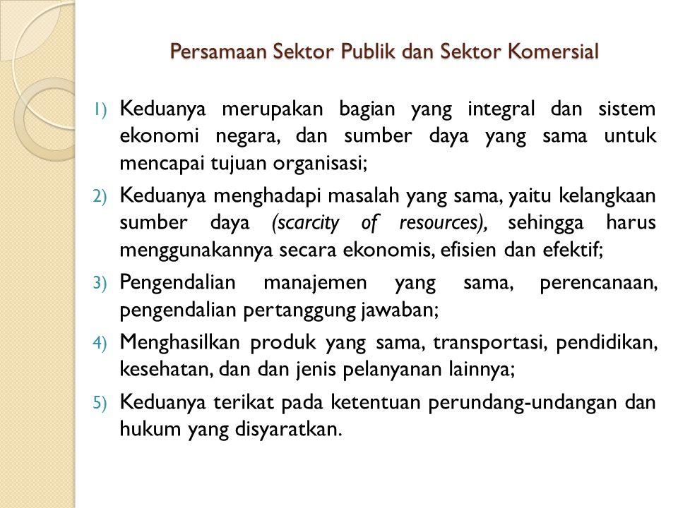 Persamaan Sektor Publik dan Sektor Komersial