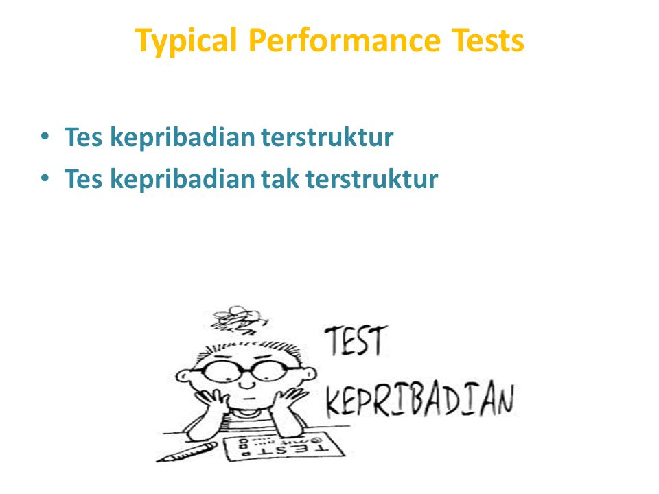 Typical Performance Tests