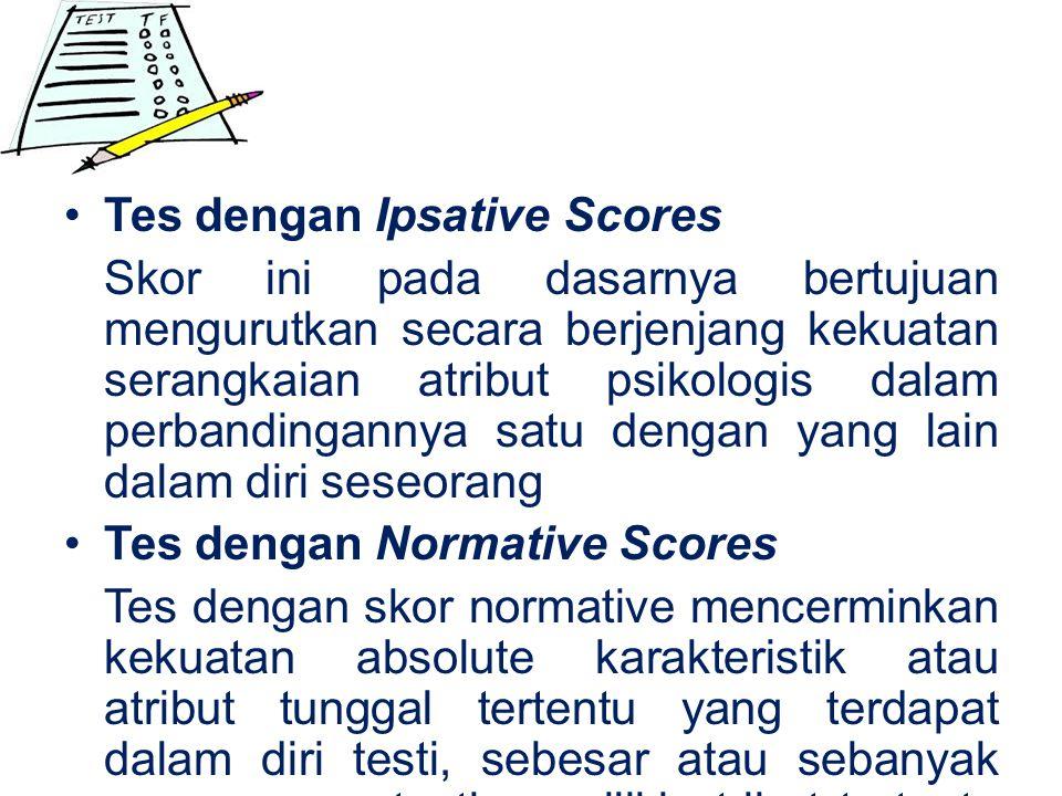 Tes dengan Ipsative Scores
