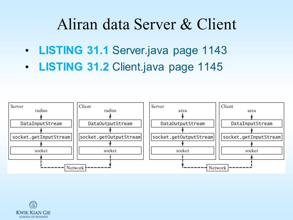 Aliran data Server & Client