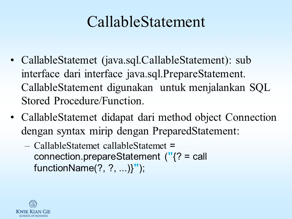 CallableStatement