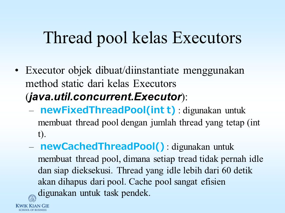 Thread pool kelas Executors