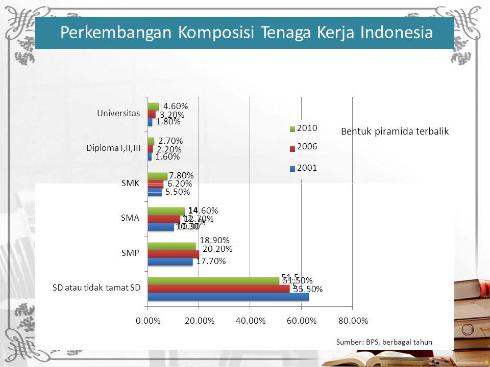 Perkembangan Komposisi Tenaga Kerja Indonesia