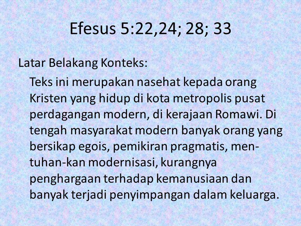 Efesus 5:22,24; 28; 33