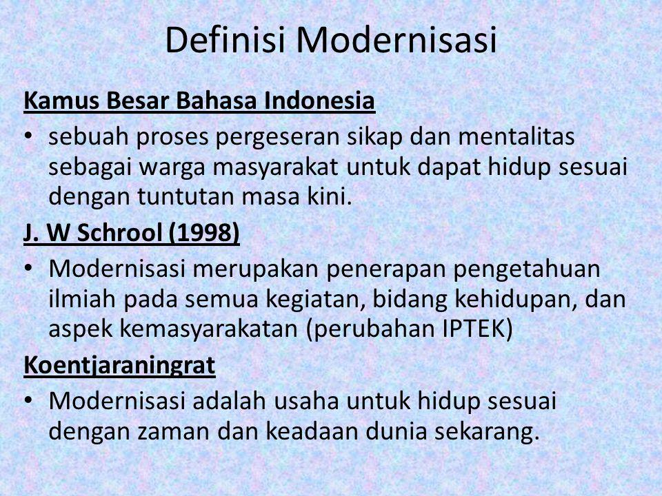 Definisi Modernisasi Kamus Besar Bahasa Indonesia