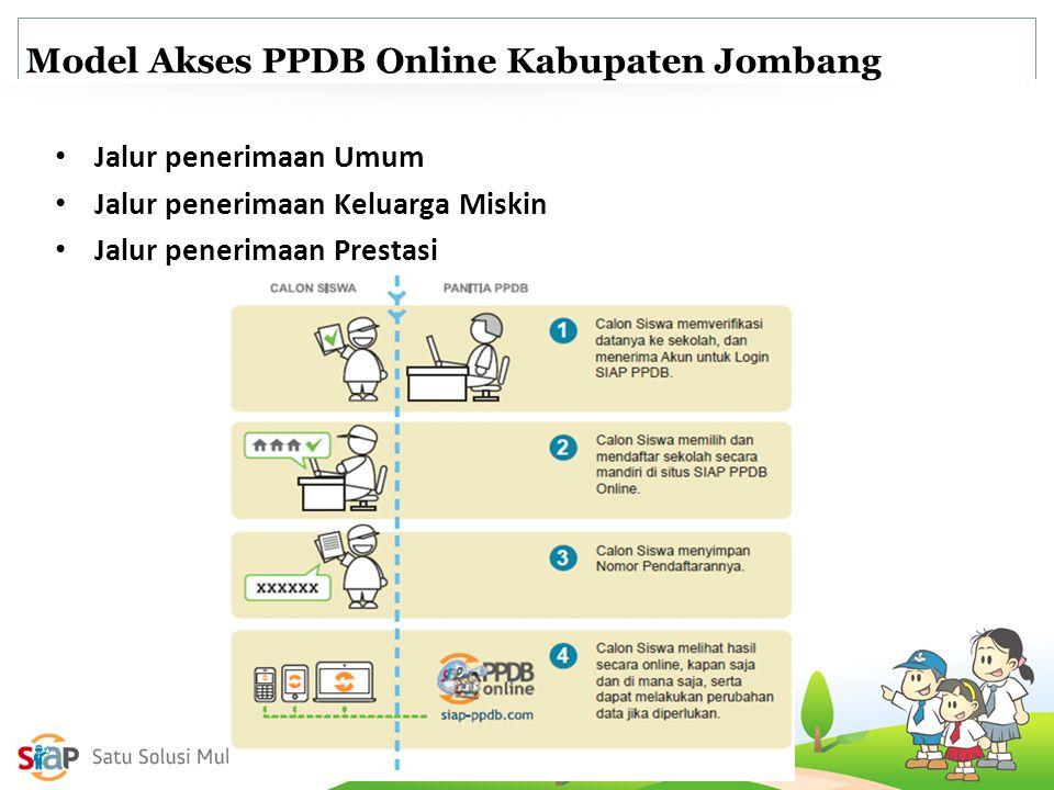 Model Akses PPDB Online Kabupaten Jombang