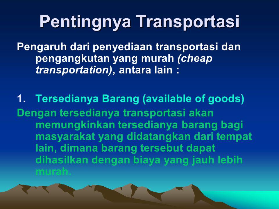 Pentingnya Transportasi